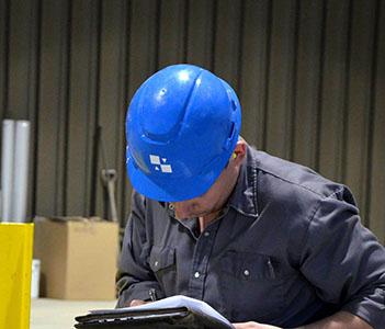 crane inspection during NAOSH safety week in Winnipeg, Manitoba