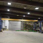 large span overhead work bay