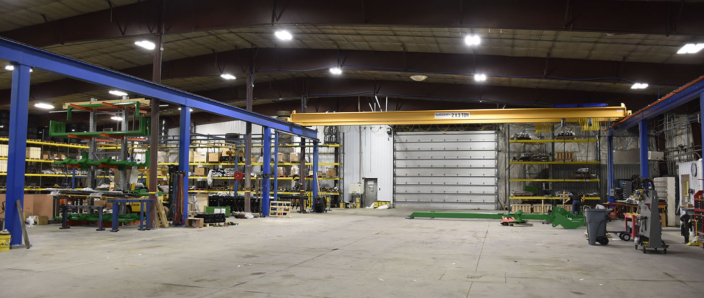 ag manufacturing lean installation lifting equipment