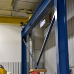 Maximizing floor crane coverage by careful column placement