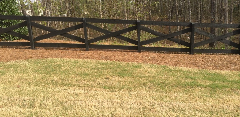 2 Rail Crossbuck W 4x4 Posts Accurate Fence Atlanta