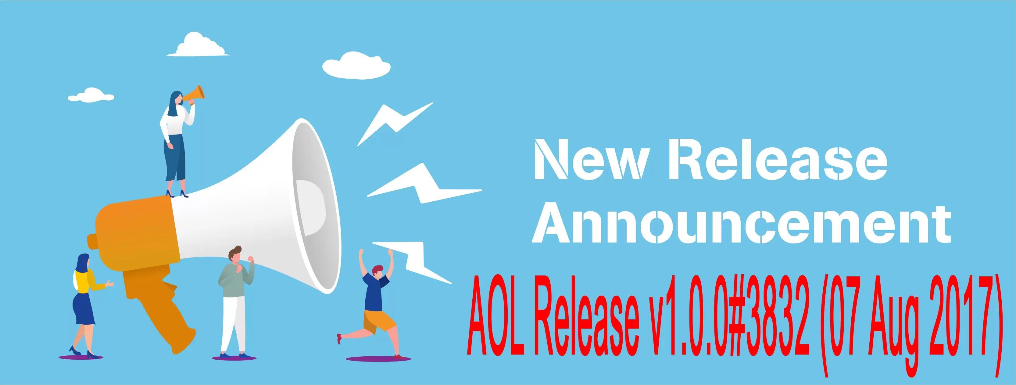 Release v1.0.0#3832 (07 Aug 2017)