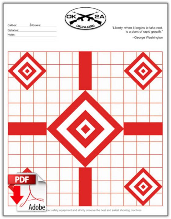 free printable shooting target # 19