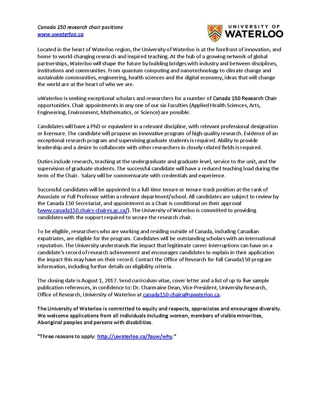 Phd Positions In Canada
