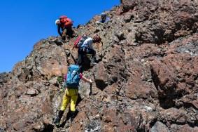 Colin Mann - Waiting for rappel on Kings Peak