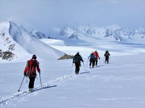 Rick Hudson: Ski touring on Hubbard Glacier, Kluane NP