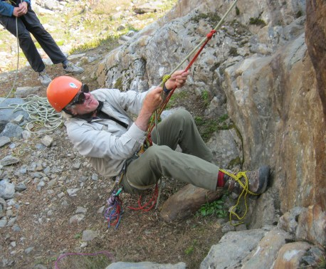 Cedric Zala - Mike H in a climbing crouch. Ascent is waiting to happen!