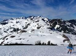 Peggy Taylor: Mike surveys the ridge