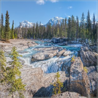 Mary Sanseverino - Kicking Horse River views from the Natural Bridge, Yoho NP, BC
