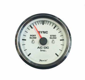 Dual Engine Sync Gauge  AC DC Marine, Inc™