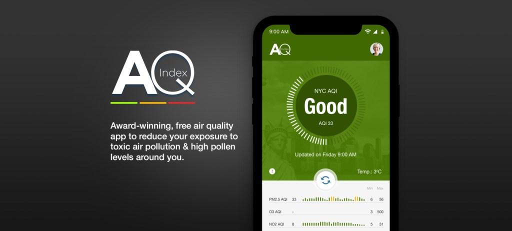 AQ Index App Prototype cover Image. acdesigner.com