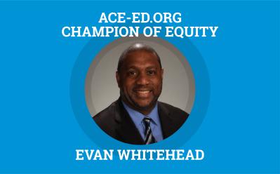 Evan Whitehead, Champion of Equity