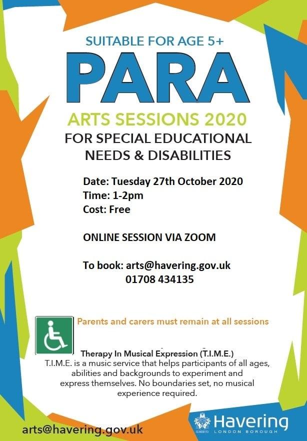 Para Arts Sessions for SEN - Music Workshop 1