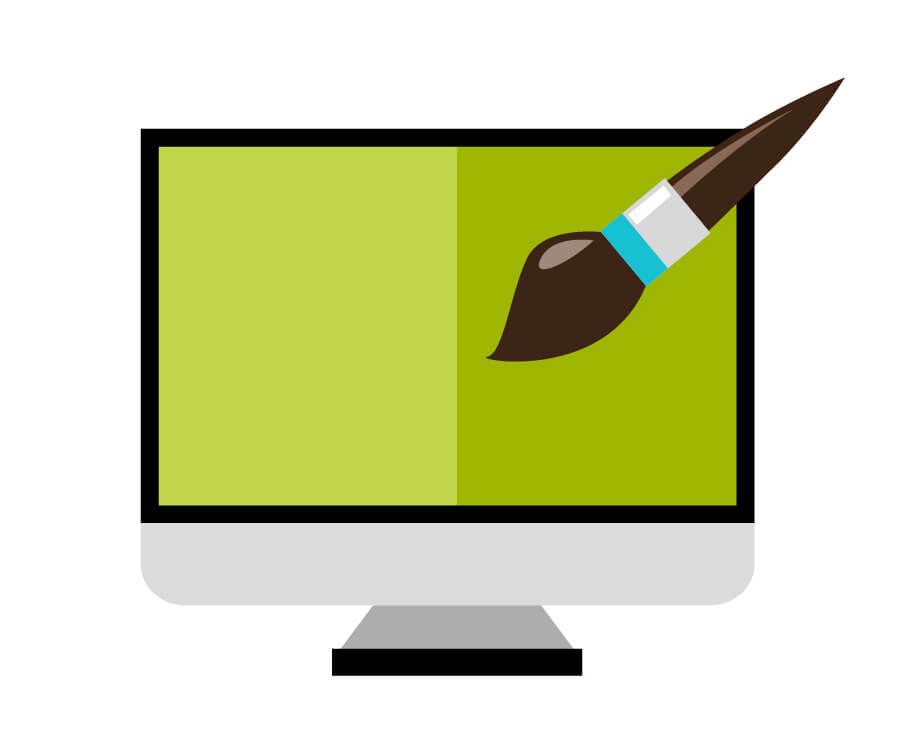 website designing vector icon