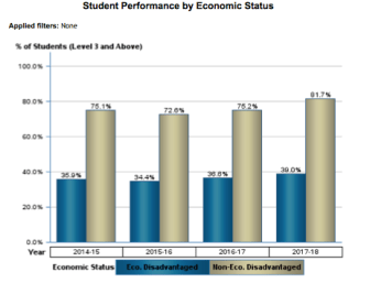 Student Performance by Economic Status