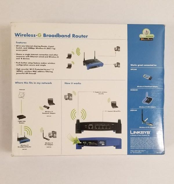 Linksys Wireless-G Broadband Router WRT54G