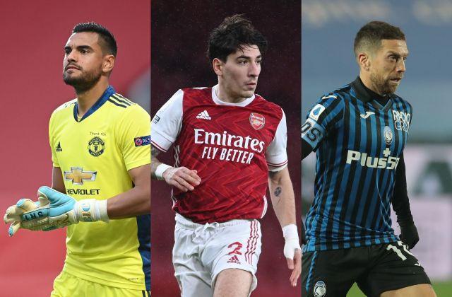 Sergio Romero of Manchester United, Hector Bellerin of Arsenal, Papu Gomez of Atalanta