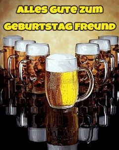 Bier Untersetzer Kunstleder Alles Gute Zum Geburtstag Und Immer