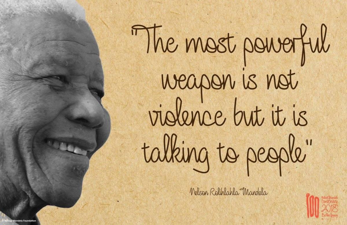 """""""Ser a mudança"""". O lema para o centenário do nascimento de Nelson Mandela"""