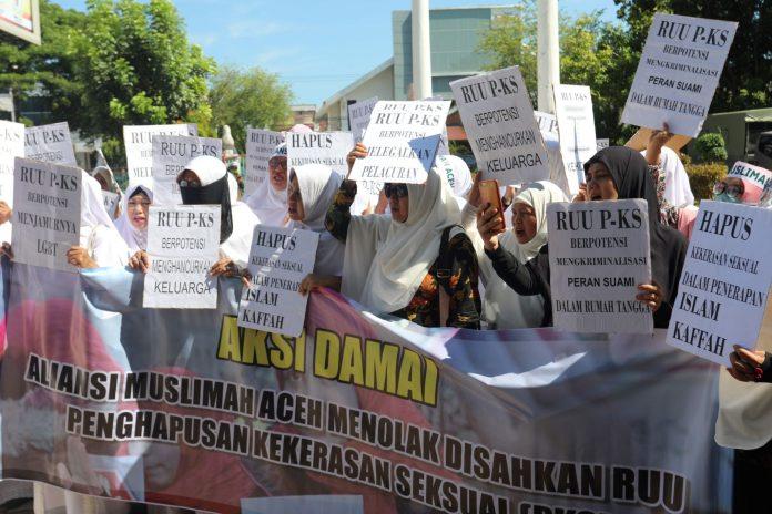 Aliansi Muslimat Aceh Tolak RUU PKS Disahkan