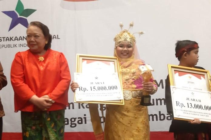 Sinna Resyadia, Siswi Asal Padang Tiji Juara Lomba Bercerita Tingkat Nasional 2019