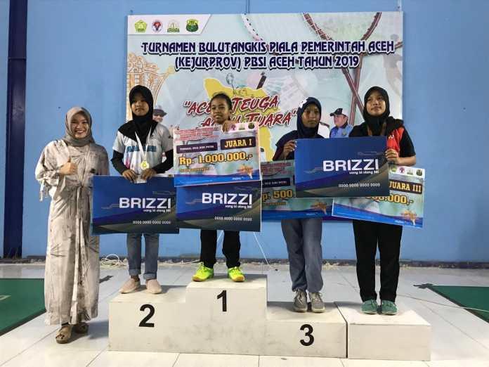 PB Teuku Umar Meulaboh Juara Umum Kejurprov PBSI Aceh 2019