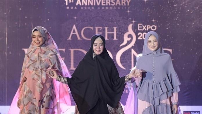 Busana Rumoh Syar'i di Aceh Wedding Expo 2020 Dapat Pujian dari Ketua DWP