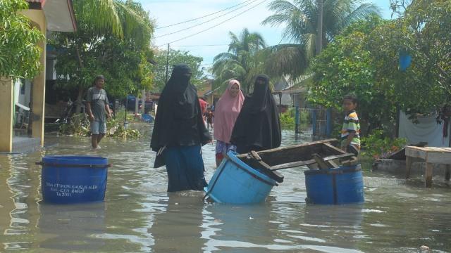 Video: Detik-detik Banjir Rob Landa 5 Desa di Aceh Barat, 1.641 Jiwa Terdampak