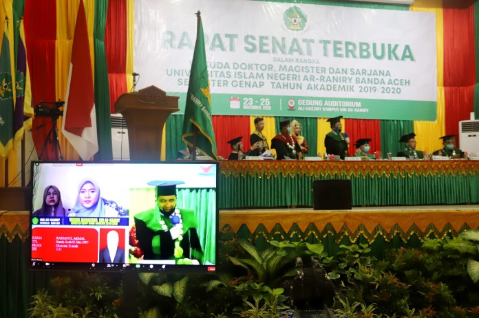 1.377 Lulusan UIN Ar-Raniry Ikuti Wisuda Secara Daring dan Luring