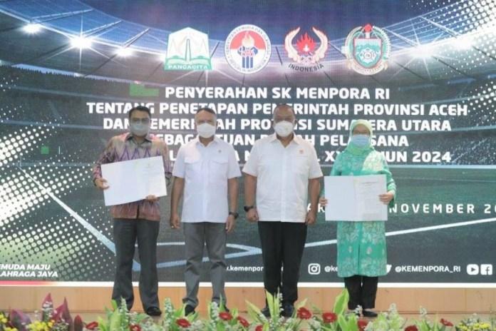 Aceh dan Sumut Resmi Jadi Tuan Rumah PON XXI 2024