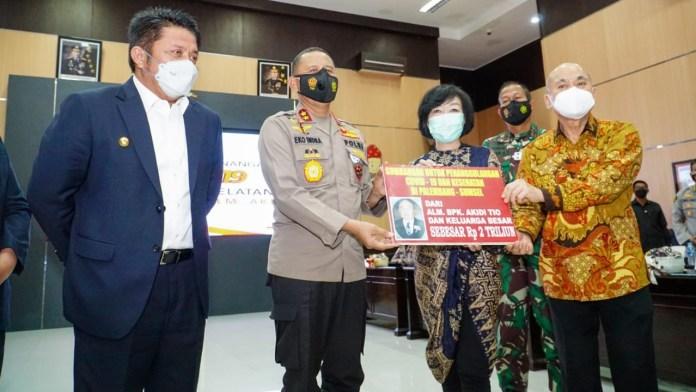 Keluarga Pengusaha Akidi Tio Sumbang Rp2 T untuk Penanganan COVID-19 di Sumsel