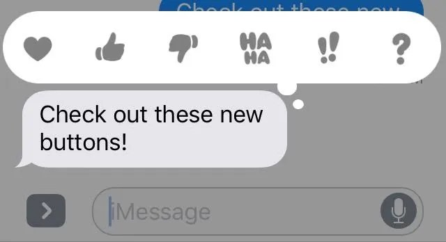 iMessage Like buttons