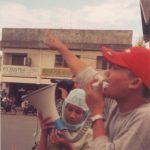 Demo di dekat Masjid Raya Baiturrahman