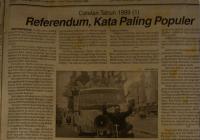 Referendum Aceh 1999: Sebuah Kliping