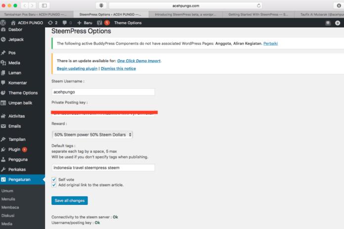 plugin steemit untuk wordpress