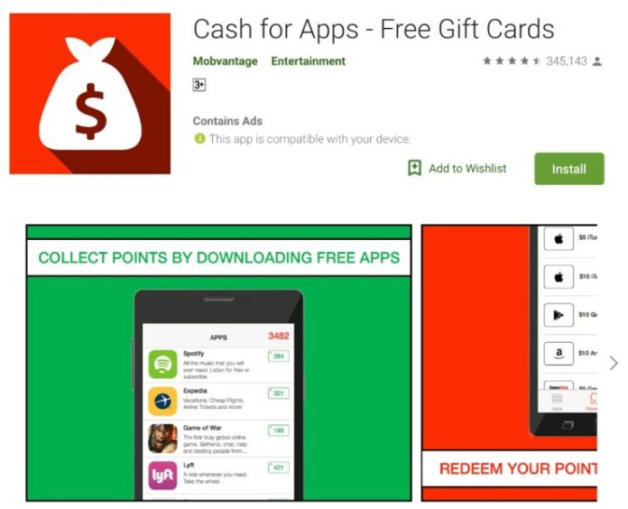 aplikasi cash for apps