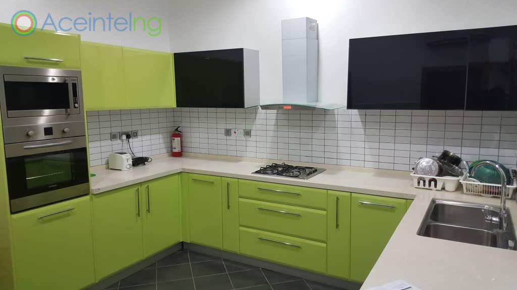 3 bedroom duplex for shortlet in lekki phase 1 - new - kitchen