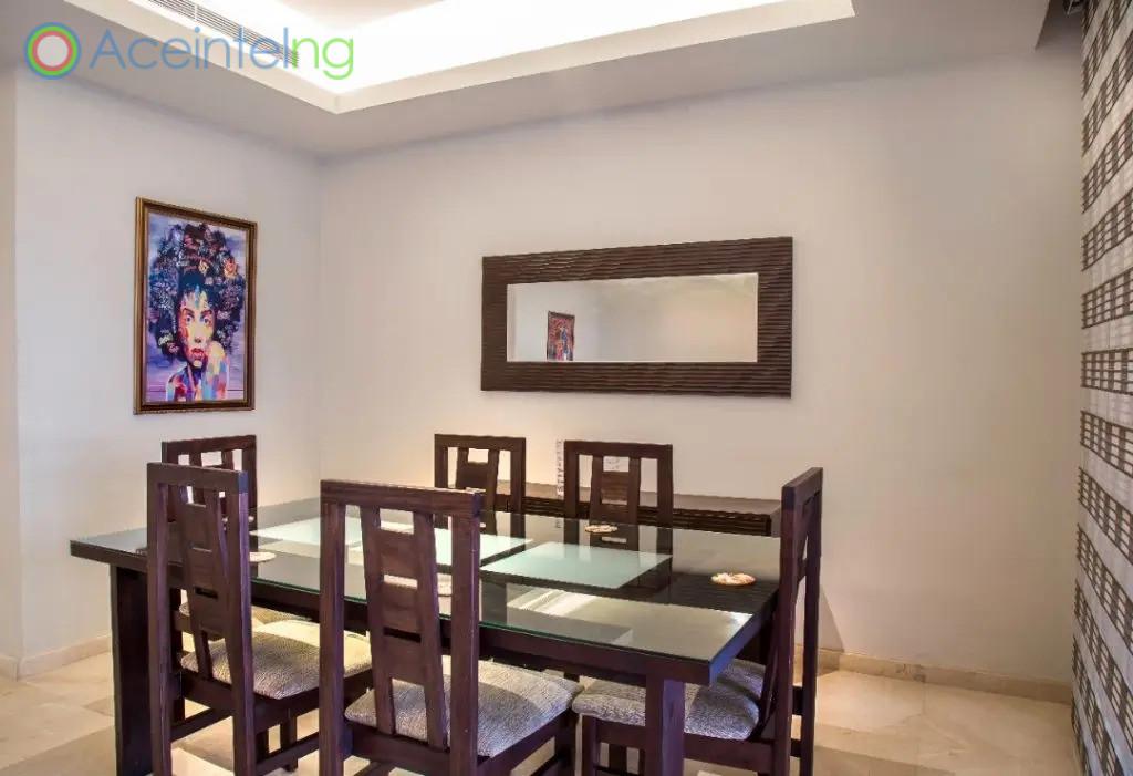 3 bedroom apartment for shortlet in eko atlantic - eko pearl - dinning