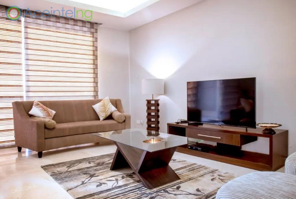 3 bedroom apartment for shortlet in eko atlantic - eko pearl - living room