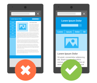 Google's mobile friendly example