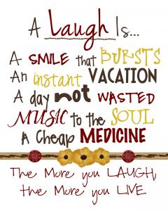 A-laugh