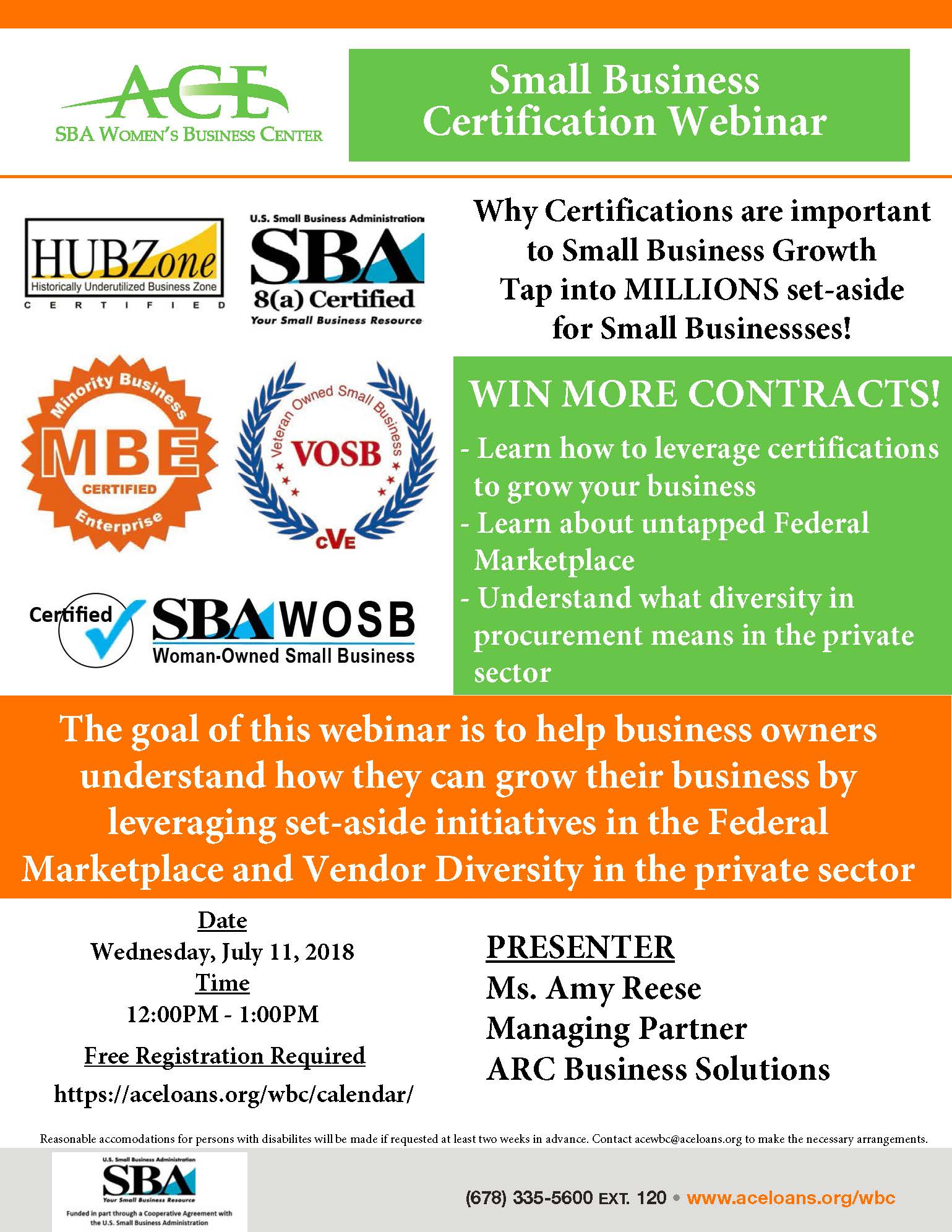 Small Business Certification Webinar | Access to Capital for