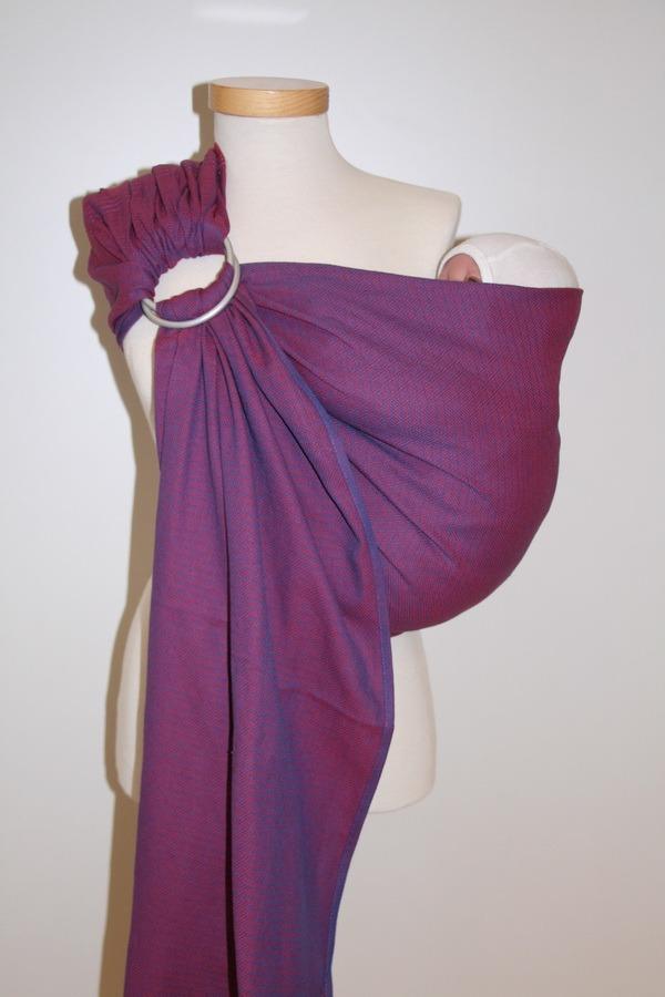 Storchenwiege® sling z obročki Leo vijolični 1
