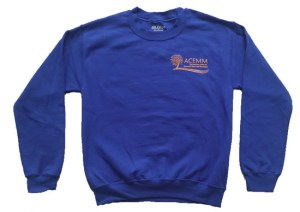 Crew-neck sweatshirt blue