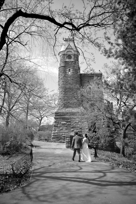 Spring Wedding At Shakespeare Garden In Central Park