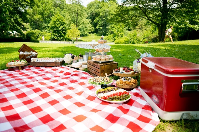 Picnic Wedding Reception in Central Park - A Central Park Wedding ... | title | picnics central park