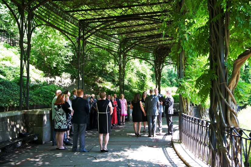 Wisteria Pergola A Central Park Wedding Get Married In Nyc