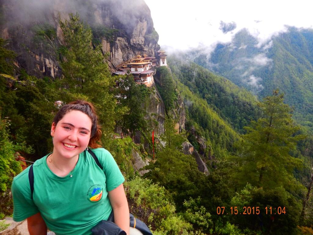 Sarah Elena in Bhutan with the School for Field Studies.
