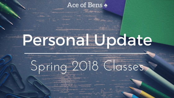 Personal Update: Spring 2018 Classes!1 min read
