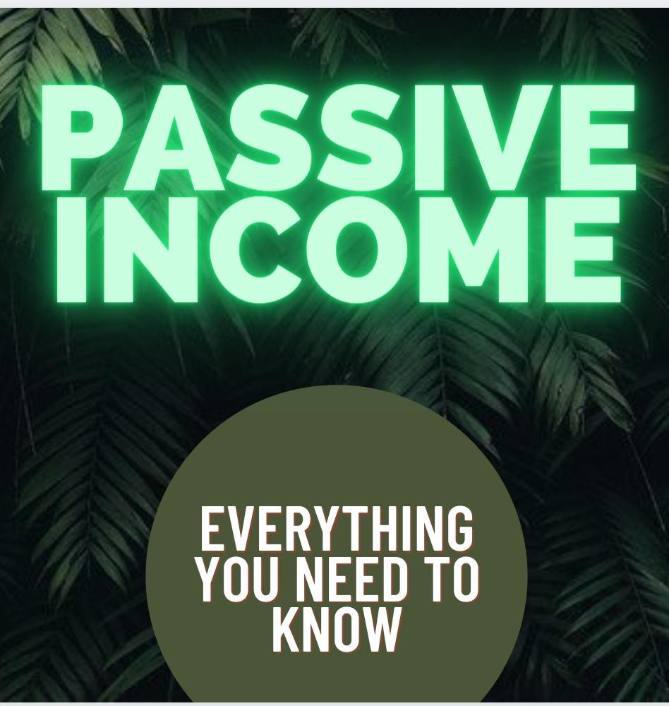 passive income definition passive income types